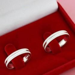 Alianças de Compromisso em prata 950 Fosca