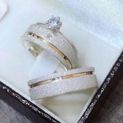 Alianças de Compromisso + anel solitário 6mm