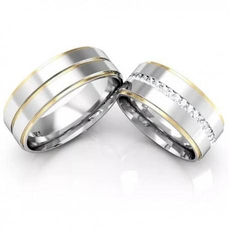 Alianças de Compromisso e Namoro Ouro E Prata