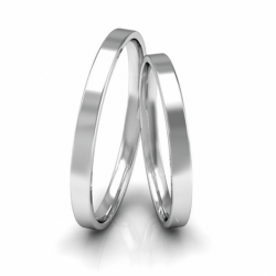 Alianças de Compromisso Namoro Prata Polidas 2mm